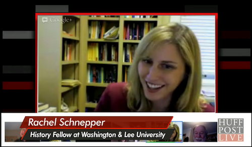 Dr. Rachel Schnepper discussing the War on Christmas on HuffPost Live