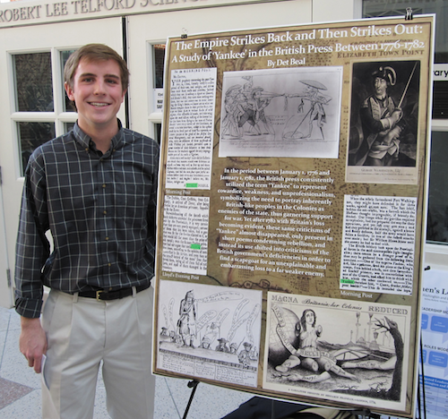 Det Beal '14 presenting his project from History 218