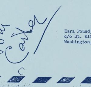 image of envelope addressed to Ezra Pound