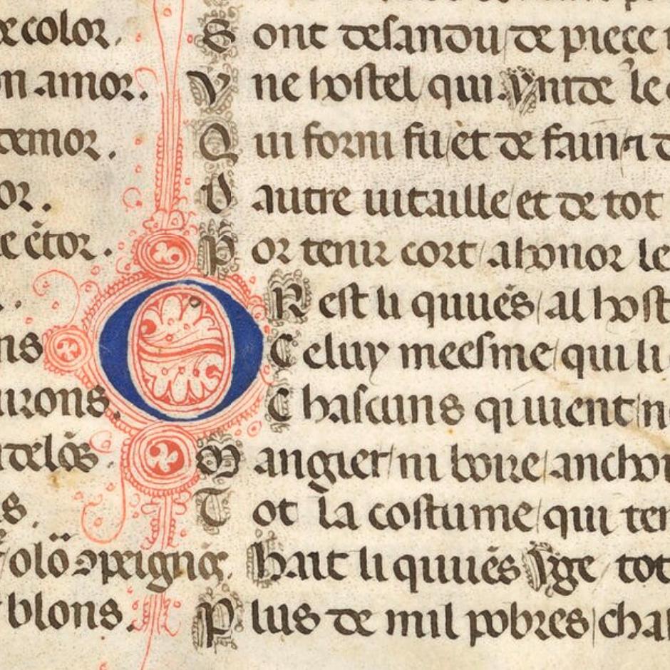Huon d'Auvergne manuscript image